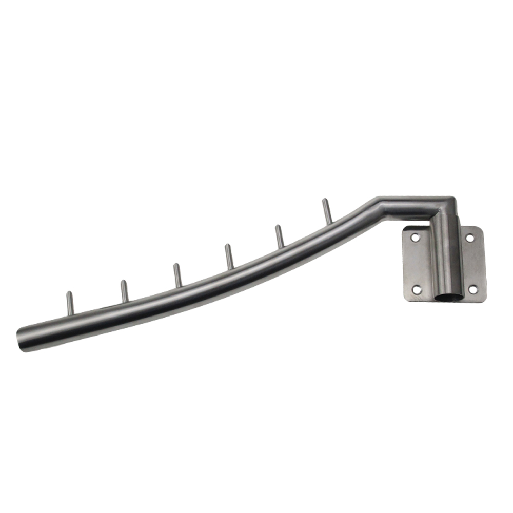 Kes Sus 304 Stainless Steel Clothes Hanger With Swing Arm