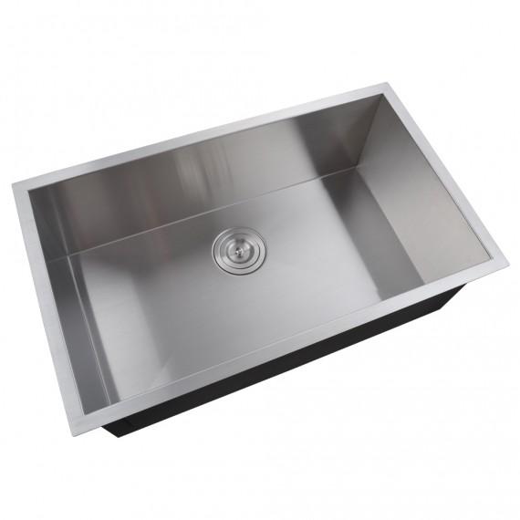 kes 30 inch kitchen sink stainless steel single bowl undermount deep 16 gauge zero radius with drain     30 inch kitchen sink stainless steel single bowl undermount deep      rh   keshome com