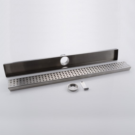 KES 24-Inch Linear Shower Drain SUS 304 Stainless Steel Rustproof with Cover, V251S60