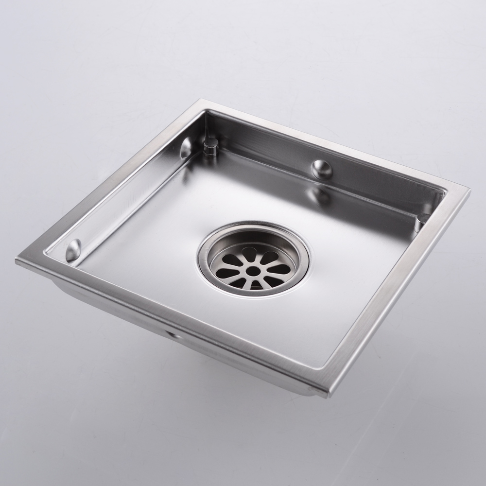 KES Invisible Tile-in Drain 6-Inch by 6-Inch SUS 304 Stainless Steel on oil rubbed bronze fruit basket, draining basket, floor drain basket, deck drain basket, industrial drain basket, plastic drain basket, tub drain basket, roof drain basket, under sink basket, replacing kitchen sink basket, dishwasher drain basket, kitchen waste basket, shower basket, kohler kitchen drain basket, coffee filter basket, utensil drainer basket, stainless steel grill basket, kitchen sink drainer basket, tea strainer basket, orange plastic basket,