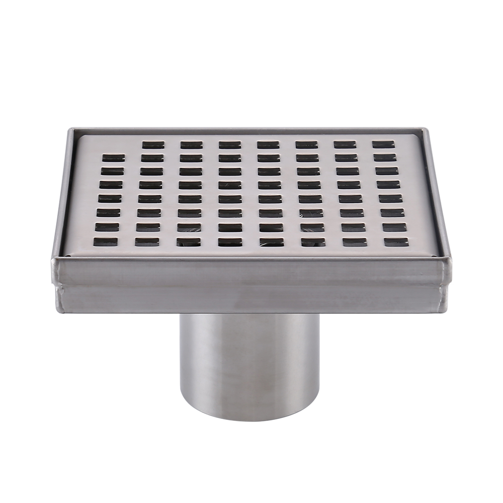 Kes square shower floor drain with removable grate for Ground drain