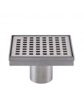 KES Square Shower Floor Drain with Removable Grate Strainer SUS 304 Stainless Steel Bathroom Drainer RUSTPROOF Brushed Finish, V255S14