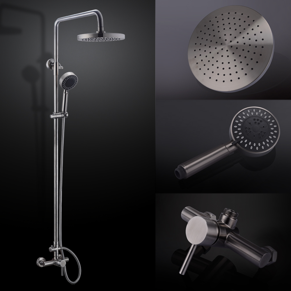 Shower System, Bathroom Faucet Set with Rain Shower Head and ...