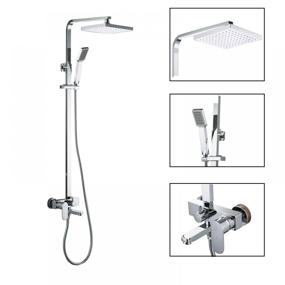 X6607A European Style Bathrube & Shower System Rainfall Shower ...