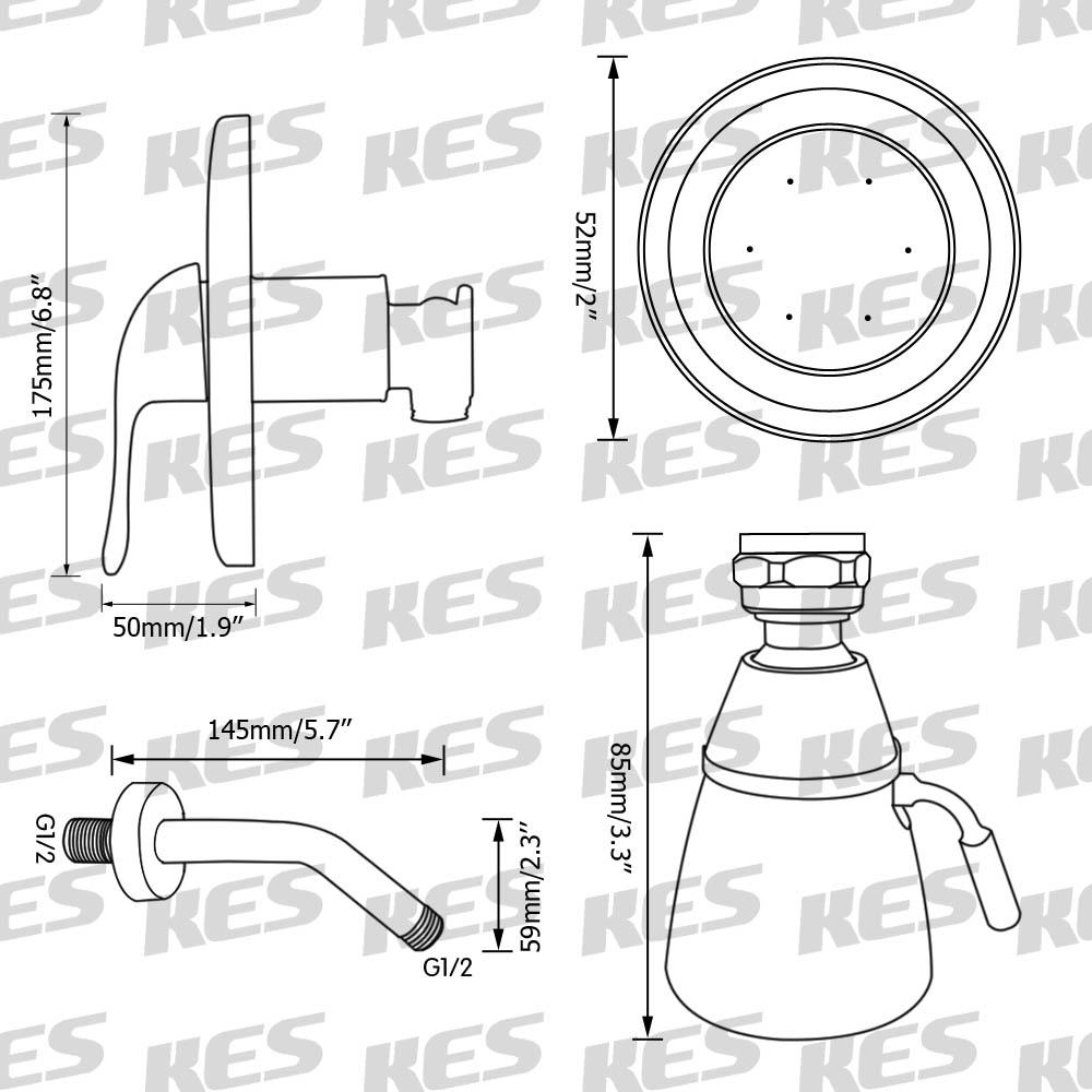 Pressue Balance Shower Faucet Set ANTI-SCALD Single Handle Brass ...