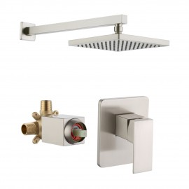 Bathroom Shower System with Rain Shower Head, Brushed Nickel XB6210-BN