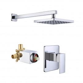 Bathroom Shower System with Rain Shower Head, Polished Finish XB6210-CH