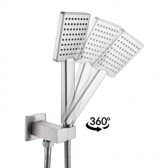 Shower System Shower Faucets Sets Complete Rain Shower Head with Handheld Shower Valve And Trim Kit Brushed Finish, XB6223-BN