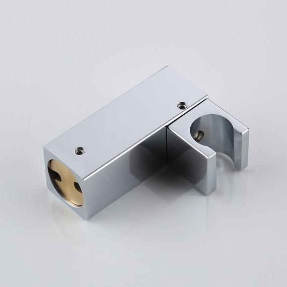 KES Shower System Bathroom Single Handle Shower Faucet Trim Valve Body Hand Shower Complete Kit Pressure Balance Modern Square, Polished Chrome/ Brushed Nickel, XB6223