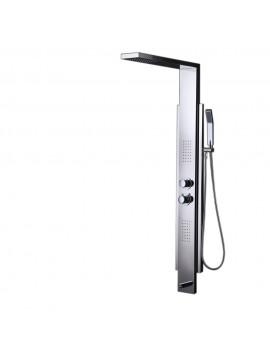 KES SUS 304 Stainless Steel Thermostatic Shower Panel 4-Function Rainfall Shower Head Handheld Showerhead Massage Side Spray Tub Spout Bathroom Wall Rain Shower System, XPM2500