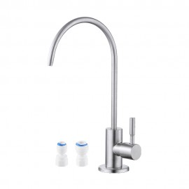RO Faucet Water Filter Faucet Non-Air-Gap Drinking Water Beverage Faucet for Reverse Osmosis Systems Water Filtration System 304 Stainless Steel Brushed Finish, Z504CLF-BS