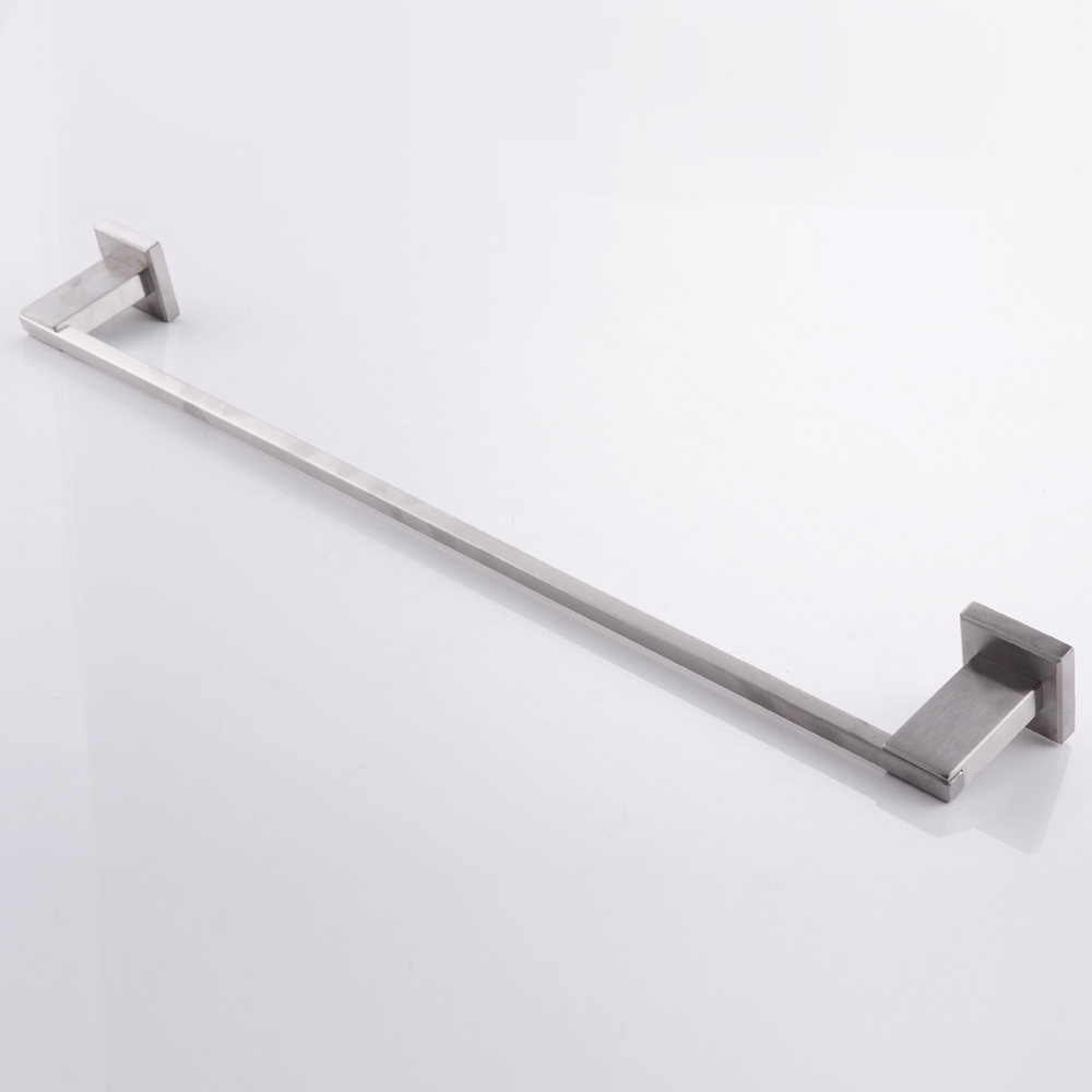 Wall Mounted Towel Rack Brushed Stainless Steel Bathroom Bath Holder