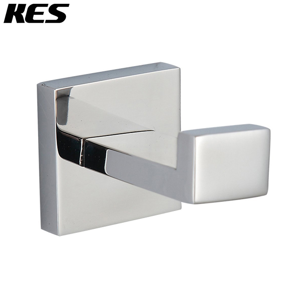 kes a2560 bathroom lavatory wall mount single coat and robe hook polished stainless steel