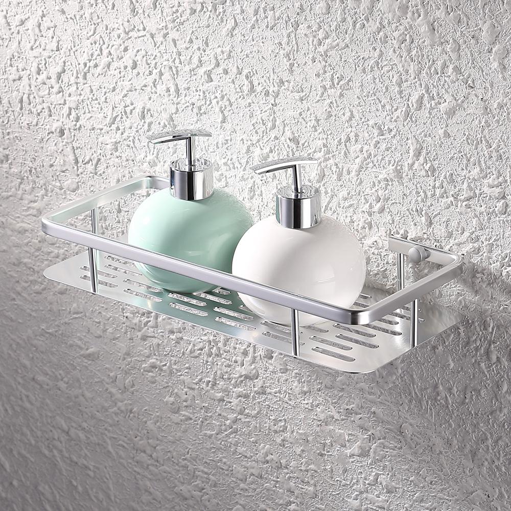 KES 12-Inch Aluminum Bathroom Shelf Wall Mounted, Silver Sand ...