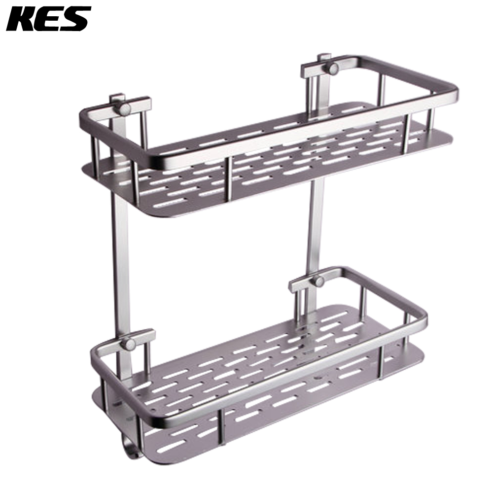 Sand Rail Baskets : Kes bathroom tier glass shelf with rail aluminum and