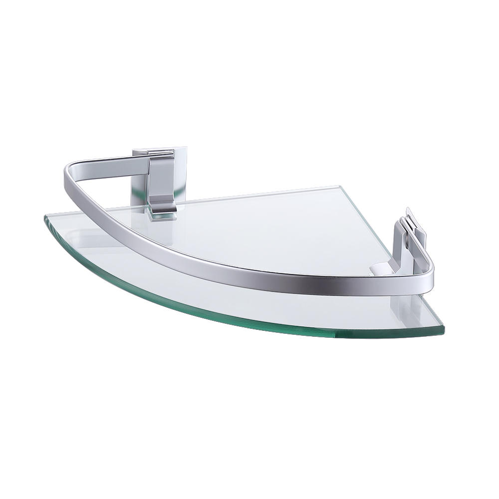 KES Bathroom Glass Corner Shelf Shower Caddy (1 tier Aluminum ...