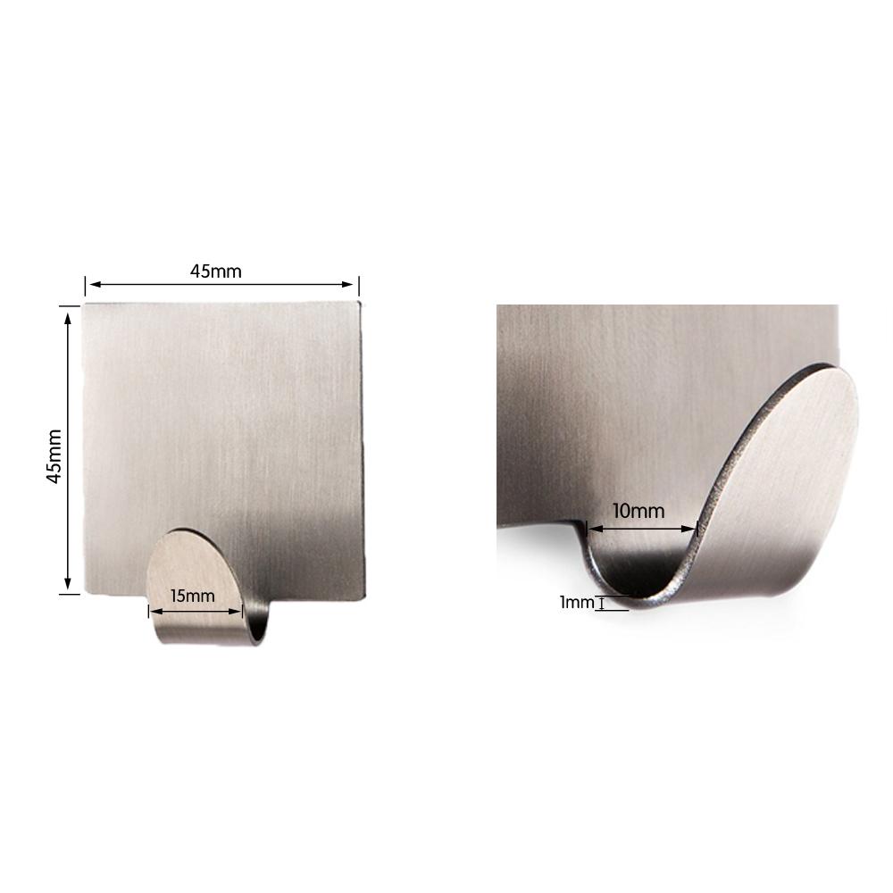 KES Self Adhesive Hooks Key Rack SUS 304 Stainless Steel Garage Storage  Organizer Stick On Sticky Bathroom Kitchen Towel Hanger Wall ...