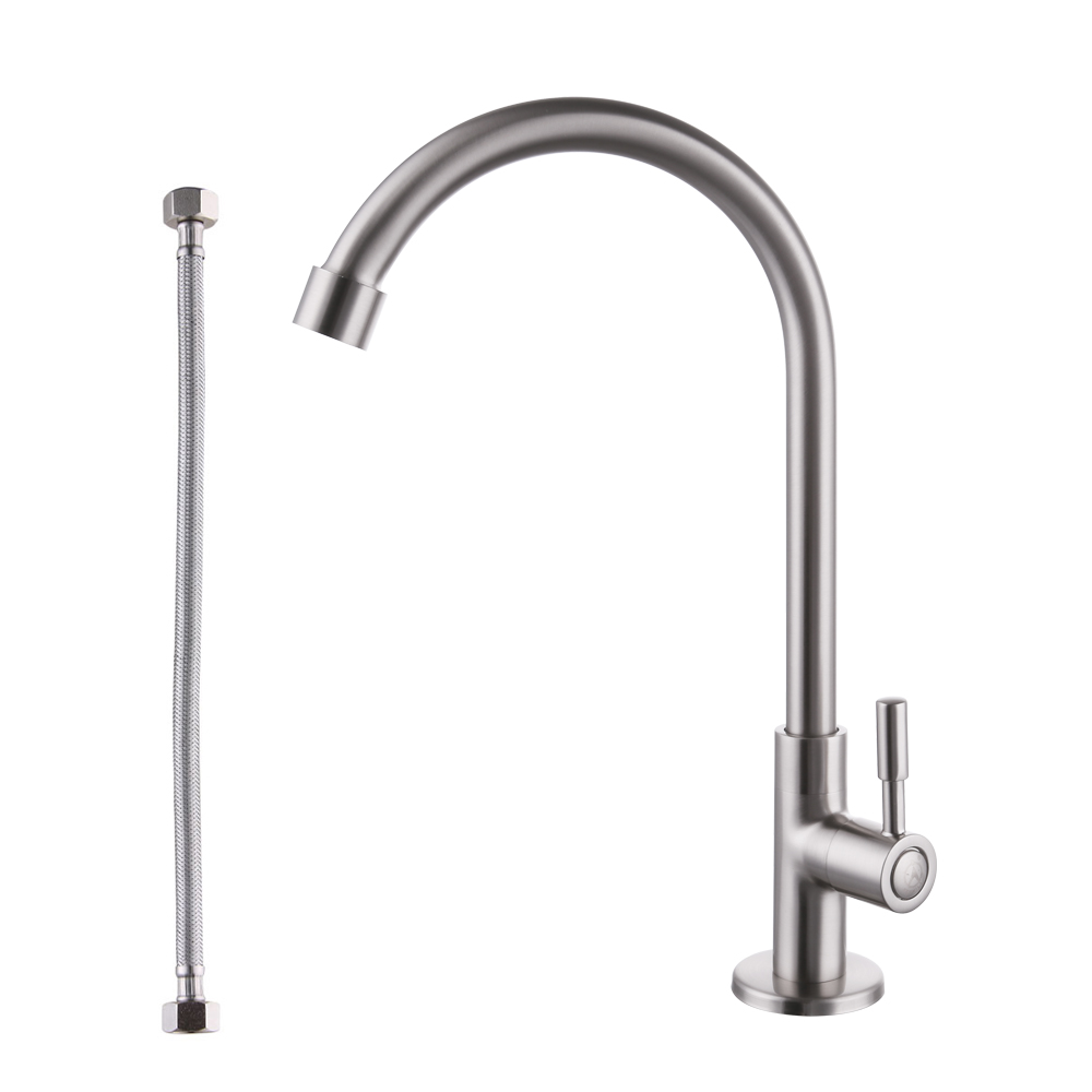 kes leadfree kitchen faucet single handle bar sink faucet single hole cold water only brass modern replacement tap brushed nickel k8001a1lf2 - Bar Sink Faucet