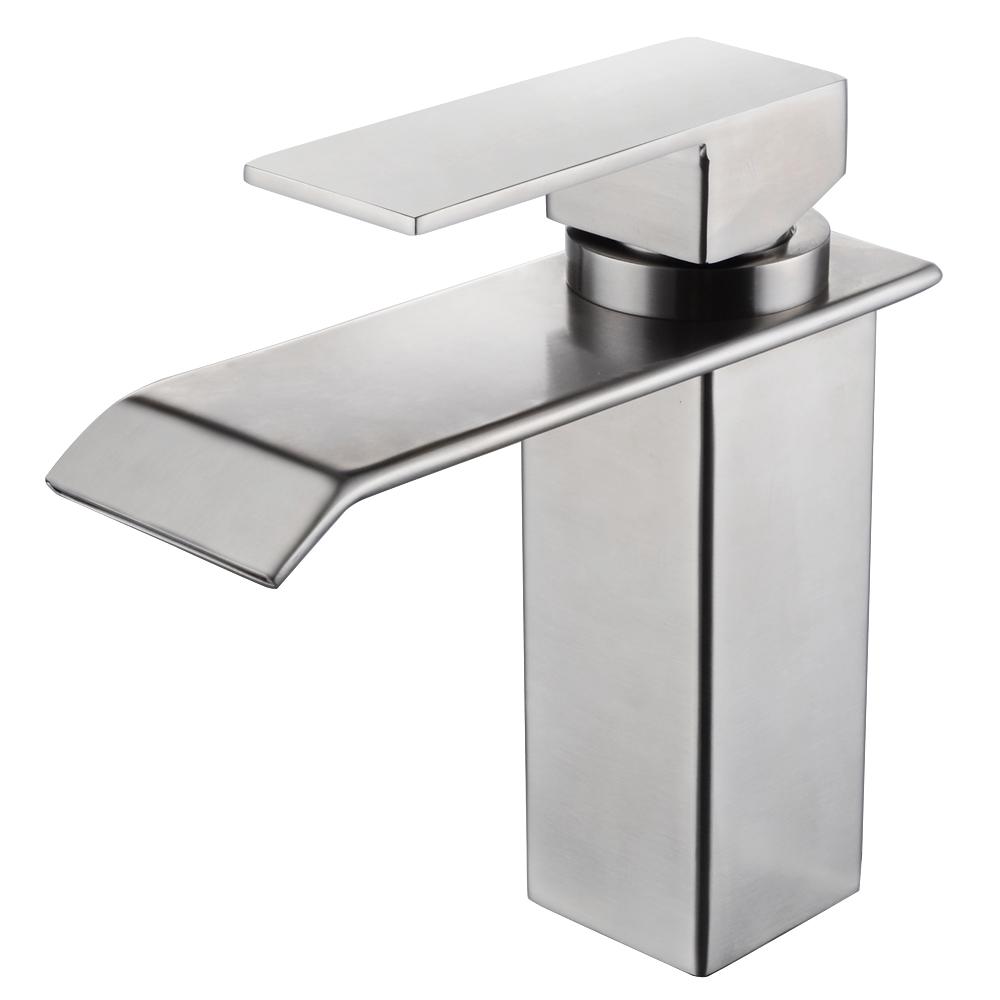 KES SUS304 Stainless Steel Waterfall Bathroom Vanity Sink Faucet ...