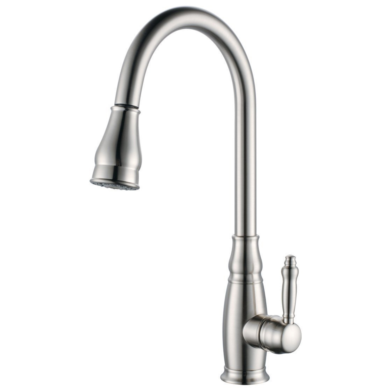 KES Brass Bar Sink Faucet with Pull Down Sprayer Head Modern