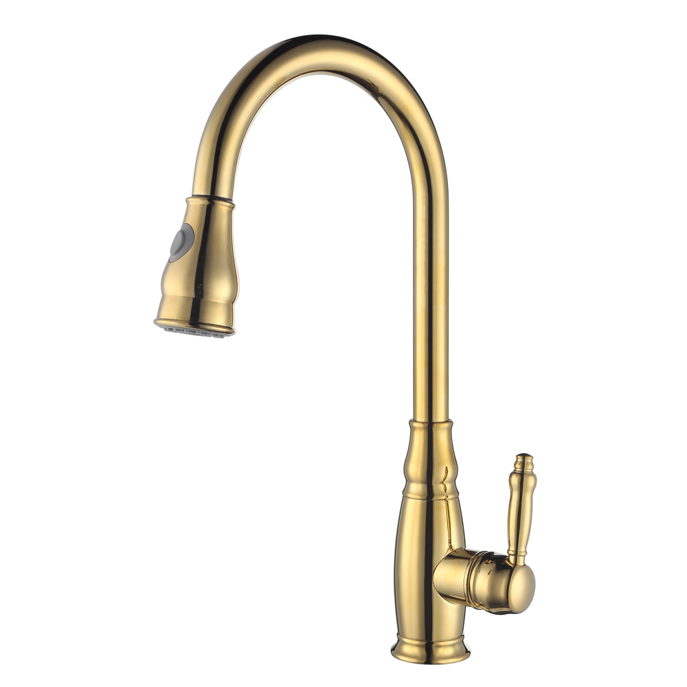 KES BRASS Tall Kitchen Faucet With Pull Down Sprayer Extra High Large  Modern Commercial Pullout Sink Faucet ...