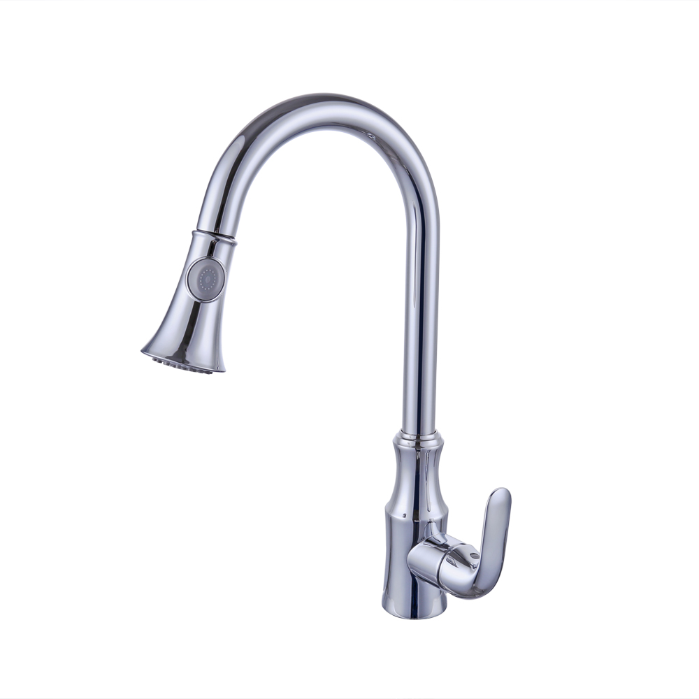 Kes Brass Pull Down Kitchen Faucet Modern Single Large Tall