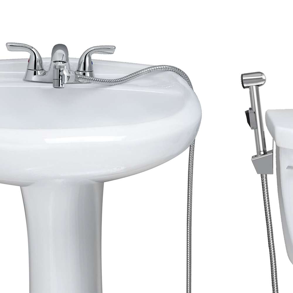 Bathroom Faucet Adapter kes solid brass toilet handheld bidet sprayer with t-adapter valve
