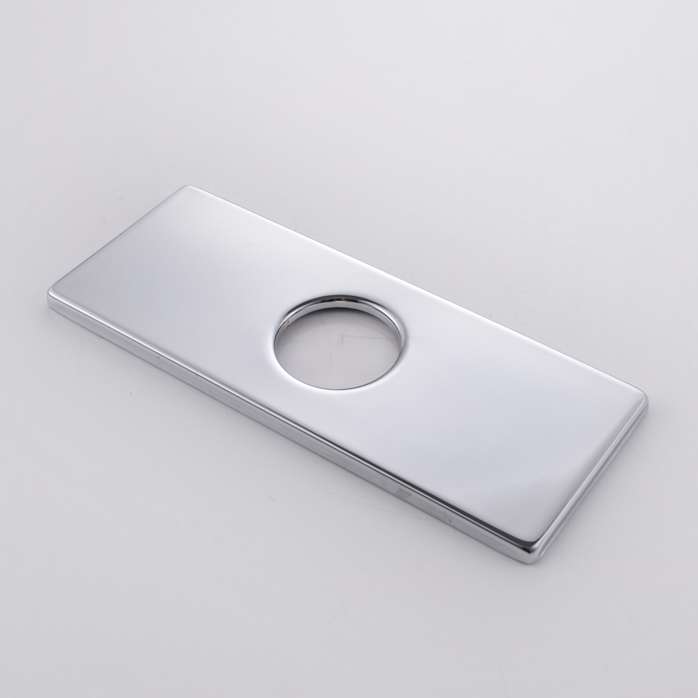 Bathroom Faucet Escutcheon Plate 6-inch sink faucet hole cover deck plate square escutcheon for