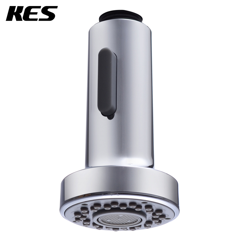 KES PFS4 Bathroom Kitchen Faucet Pull Out Spray Head Universal Replacement  Part, Polished Chrome