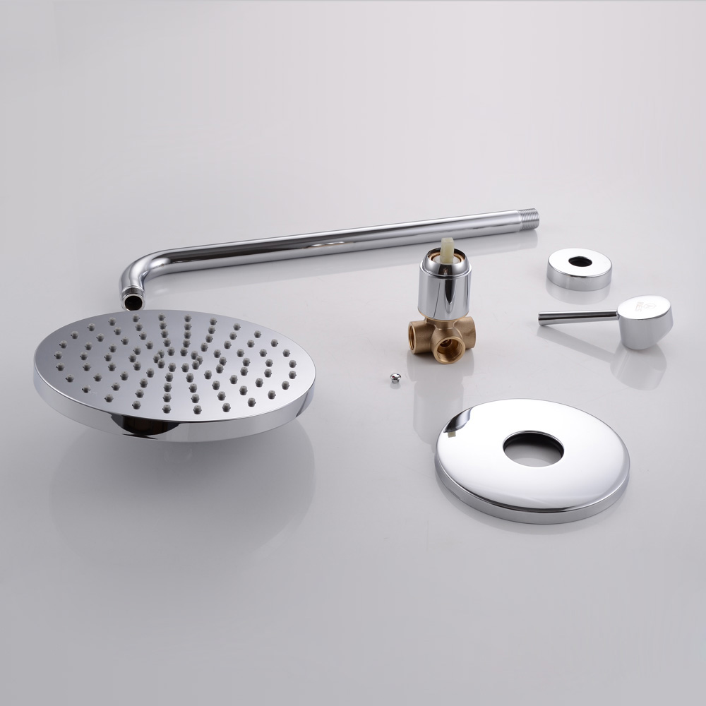 kes bathroom shower faucet set single handle solid brass roughin concealed valve with stainless