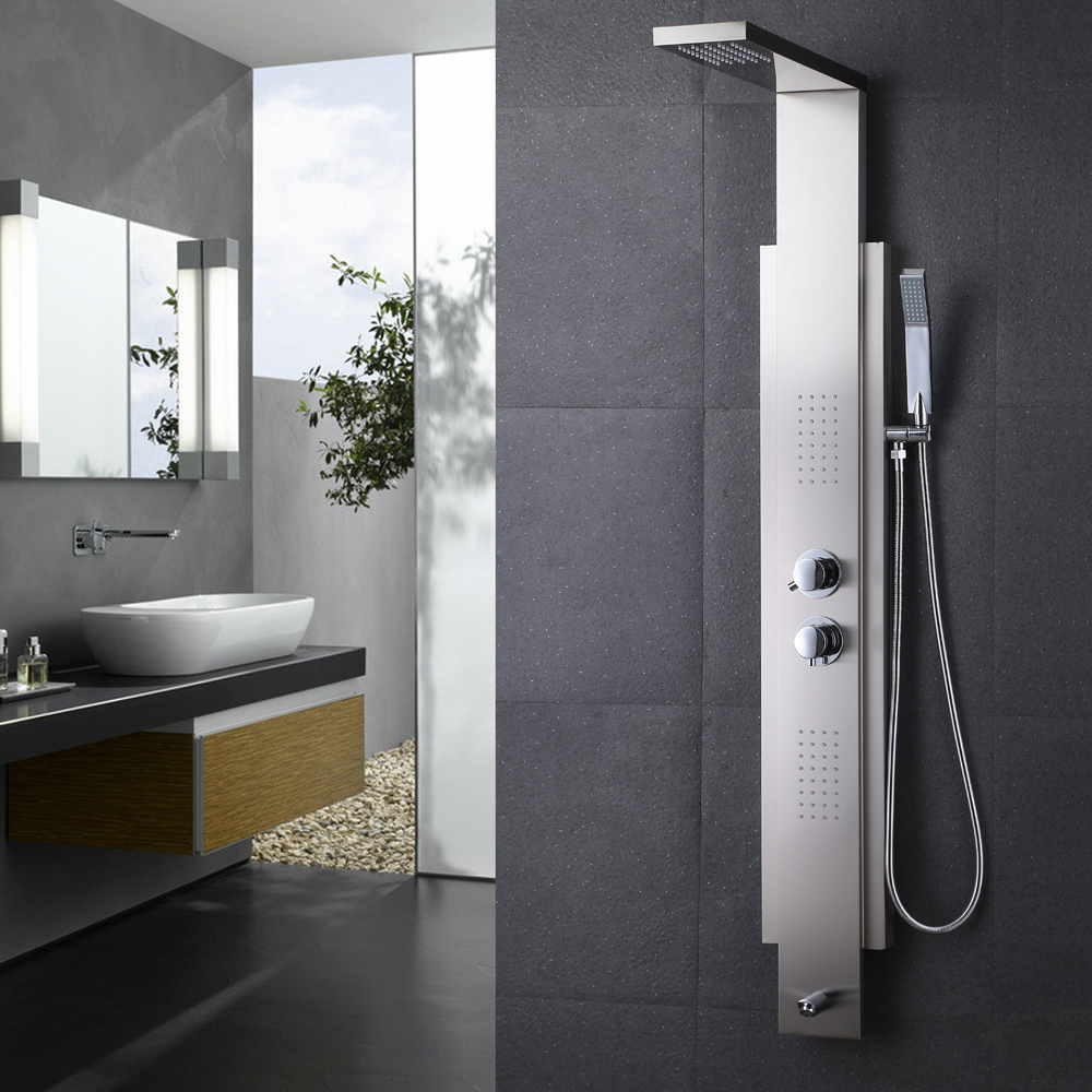 KES SUS 304 Stainless Steel Thermostatic Shower Panel 4-Function ...